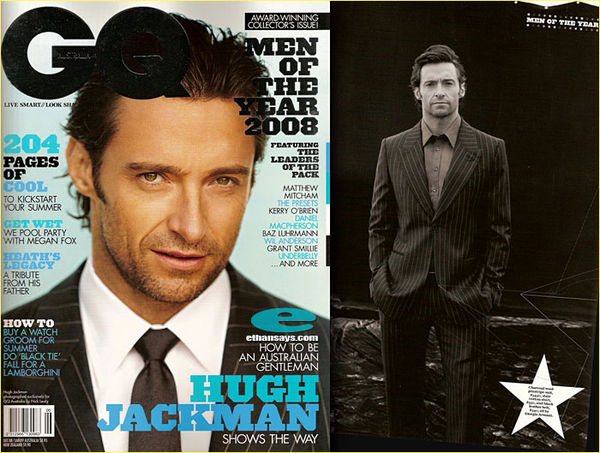 HUGH JACKMAN IS GQ AUSTRALIA'S OVERALL CHOICE