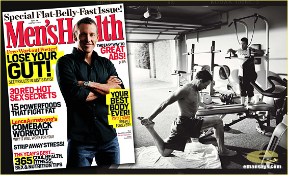 LANCE ARMSTRONG'S COMES BACK IN MEN'S HEALTH