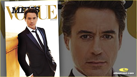 ROBERT DOWNEY JR.'S SECOND LIFE IN MEN'S VOGUE