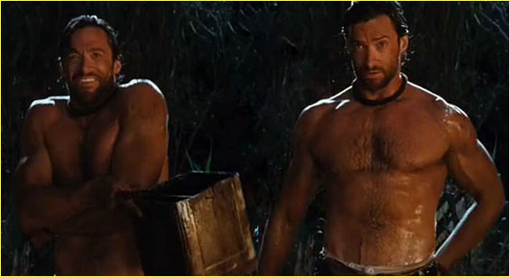 HUGH JACKMAN, SHIRTLESS IN AUSTRALIA