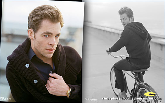 CHRIS PINE BEAMS UP TO VANITY FAIR