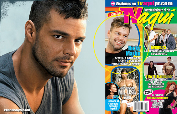RICKY MARTIN, ALMOST OUT