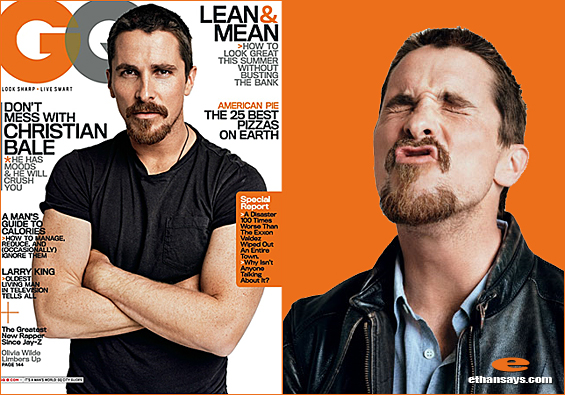 CHRISTIAN BALE TALKS QUIETLY WITH GQ