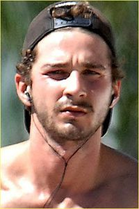 SHIA LABEOUF IS A SHIRTLESS TRANSFORMER