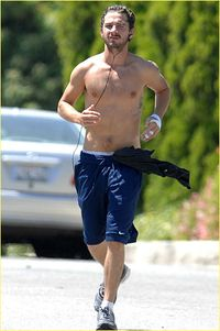SHIA LABEOUF RUNS SHIRTLESS, AGAIN