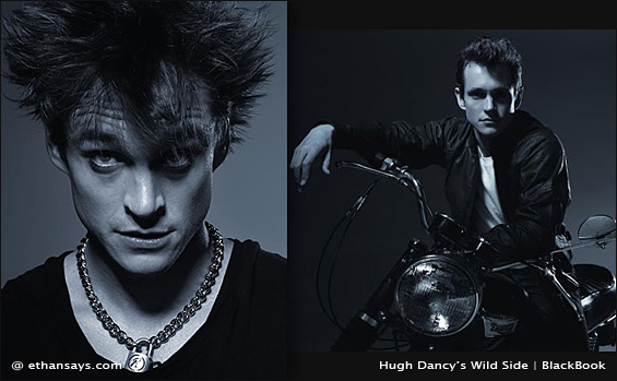 HUGH DANCY SHOWS WILD SIDE FOR BLACKBOOK