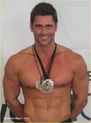 Jack Mackenroth Celebrates World Outgames Medals