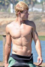 Trevor Donovan is Shirtless
