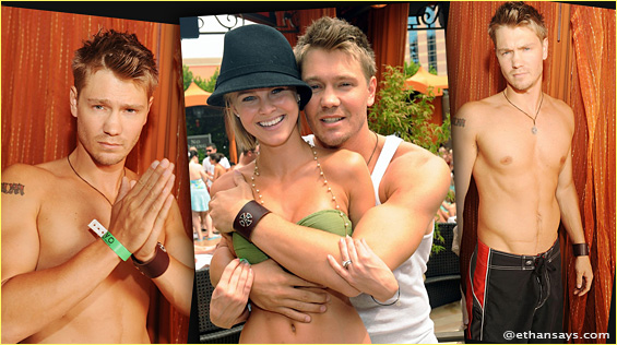 Chad Michael Murray Shirtless at the Venetian