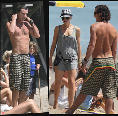 Gwen Stefani, Gavin Rossdale & Brood Hit the Beach