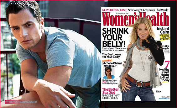 Penn Badgley - Womens Health Oct 09