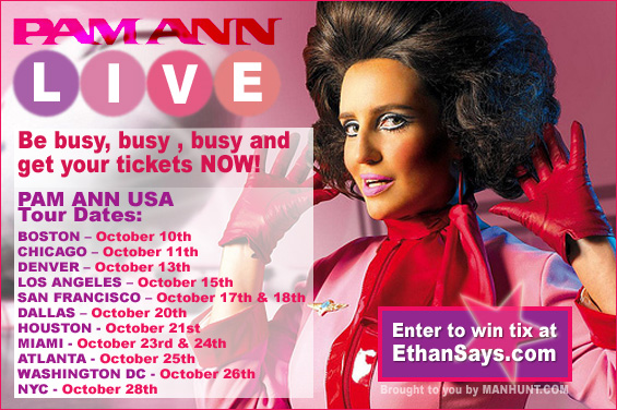 WIN TICKETS TO PAM ANN USA TOUR