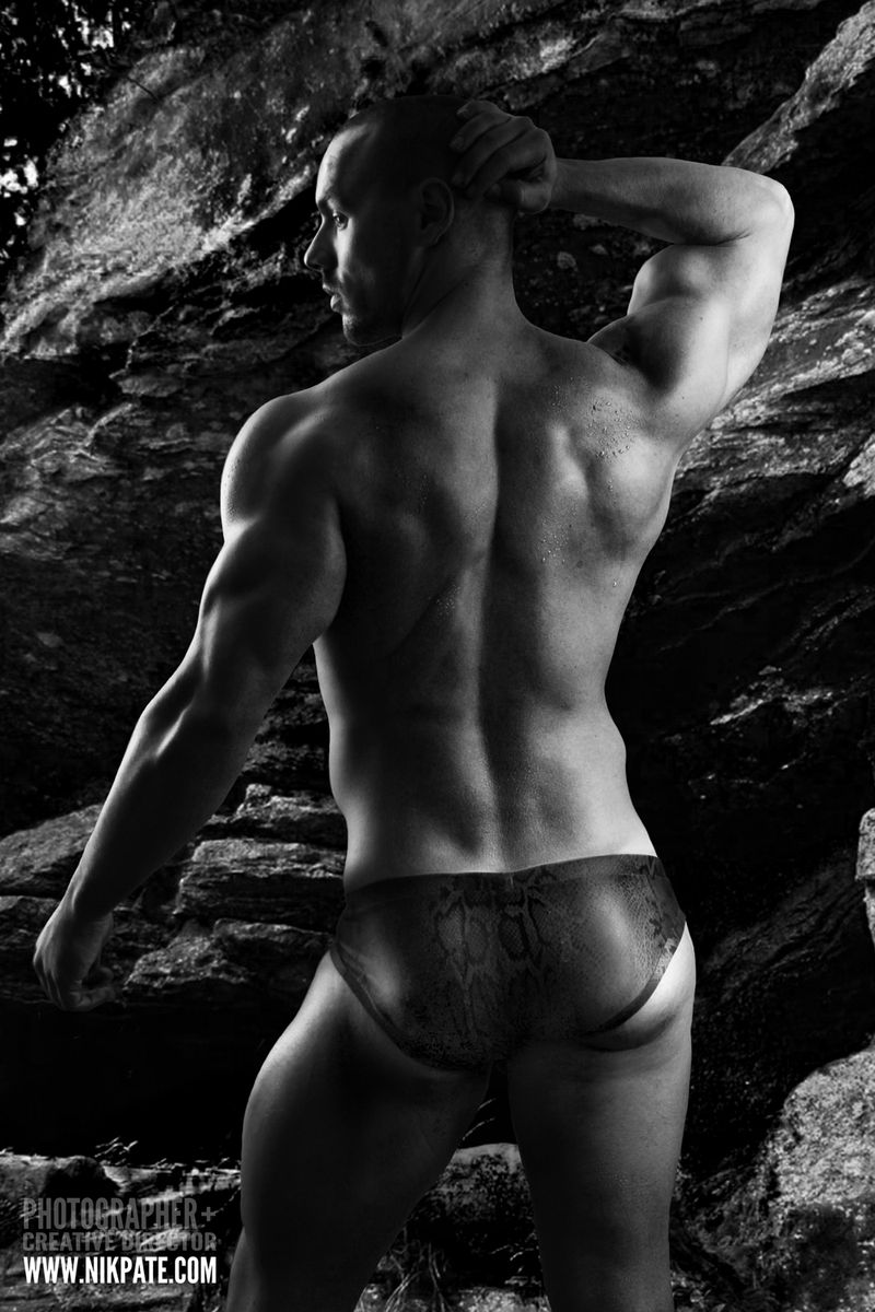 Picture About Male Model Eric Leto in trunks Captured by Studio 805