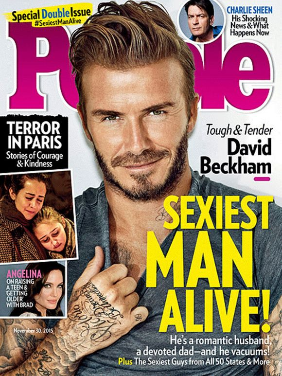 David beckham people sexiest man alive 2015