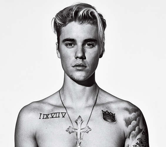 Justin Bieber Tattoos GQ Magaqzine 2172016